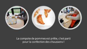 Atelier pâtisserie : Chaussons aux pommes.